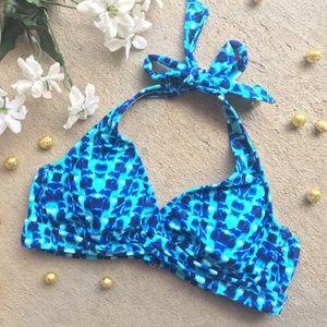 Athleta • Halter Bikini Swim Top Multi Blue Color